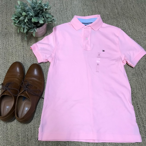 7eeed8321fc Tommy Hilfiger Pink Polo Shirt